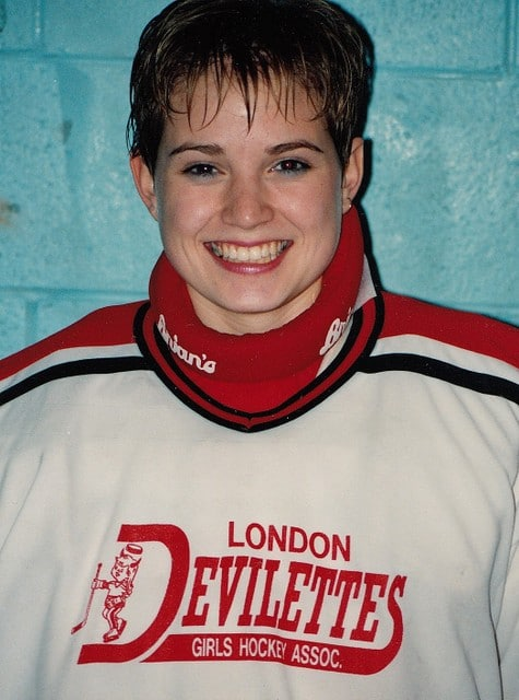 Casey Vandepeer with London Devilettes 1992. Photo: Jeffrey Reed.