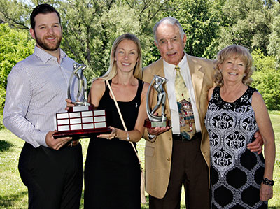 Bob Martin and family accept the London Ontario Golf Heart Award at Greenhills GC.